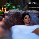 Candlelit bubble baths add the touch of romance!
